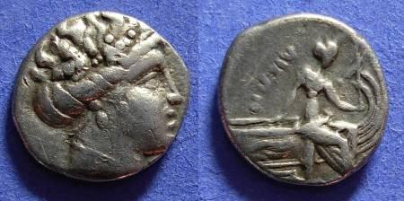 Ancient Coins - Histiaea Euboea - Tetrobol - 3rd Century BC