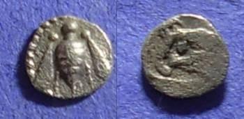 Ancient Coins - Ephesos Ionia Tetartemorion 525-500BC