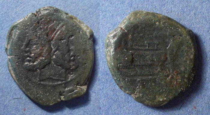 Ancient Coins - Roman Republic, L Semponius Pitio 148 BC, As