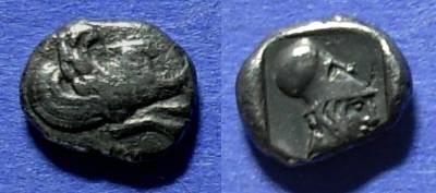 Ancient Coins - Klazomenai, Ionia Circa 450 BC, Diobol