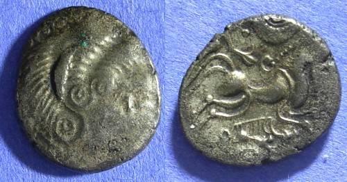 Ancient Coins - Coriosolites Gaul – Billon Stater  Circa 60 BC