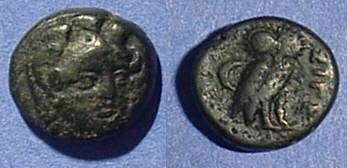 Ancient Coins - Sigeion Troas - AE12 Circa 300 BC