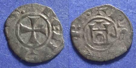 Ancient Coins - Crusader Cyprus, Henry I 1218-1253, Denier