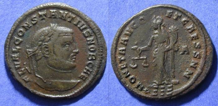 Ancient Coins - Constantius (as Caesar) 293-305AD - Follis