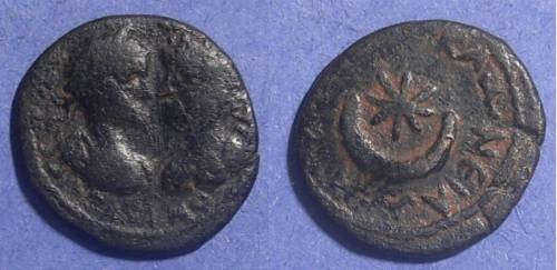 Ancient Coins - Carrhae Mesopotamia, Caracalla and Geta Circa 205 AD, AE19