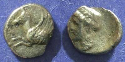 Ancient Coins - Corinth,  Circa 350 BC, Hemidrachm