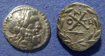 Ancient Coins - Achaian League, Aigion Achaia 88-30 BC, Hemidrachm