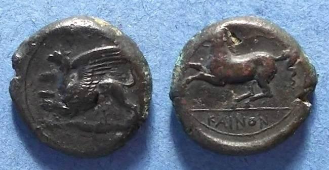 Ancient Coins - Kainon, Sicily Circa 360 BC, AE22