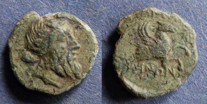 Ancient Coins - Mysia, Lampsakos 190-85 BC, AE18