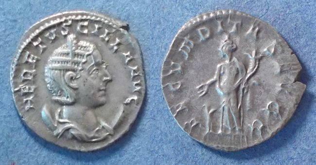 Ancient Coins - Roman Empire, Herennia Etruscilla 249-51, Antoninianus