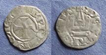 Ancient Coins - Frankish Greece: Achaea, Charles II of Anjou 1285-9, Denier