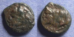 Ancient Coins - Sicily, Agyrion 344-336 BC, AE14