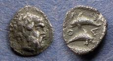 Ancient Coins - Islands off of Thrace, Thasos 412-404 BC, Tritartemorion