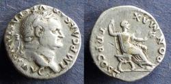 Ancient Coins - Roman Empire, Vespasian 69-79, Denarius