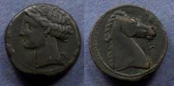 Ancient Coins - Zeugitania, Carthage 300-264 BC, AE18