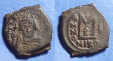 Ancient Coins - Byzantine Emipre, Heraclius 610-641, Bronze Follis