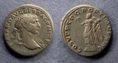 Ancient Coins - Roman Empire, Trajan 98-117, Denarius