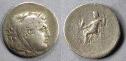 Ancient Coins - Macedonian Kingdom, In the name of Alexander III Struck 125-70 BC, Tetradrachm