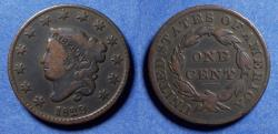 Us Coins - United States,  1829 Medium letters,  Coronet Head Cent