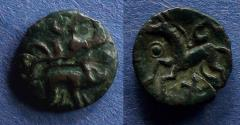 Ancient Coins - Celtic Gaul, Ambiani 50-30 BC, AE15