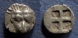Ancient Coins - Cimmerion Bosporos, Pantikapeion 480-470 BC, Obol
