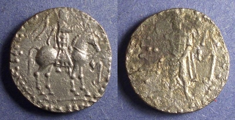 Ancient Coins - Indo Skythians, Azes 58-12 BC, Tetradrachm
