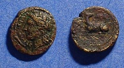 Ancient Coins - Syracuse Sicily - Agathocles 317-289 BC AE-12