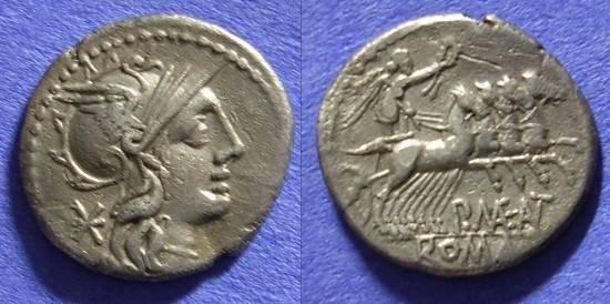 Ancient Coins - Roman Republic - Denarius 132BC - Maenia 7