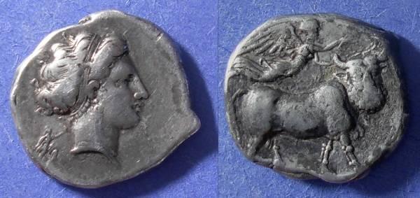 Ancient Coins - Neapolis Campania - Nomos 320-300 BC