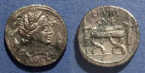 Ancient Coins - Roman Republic, L Furius Cn f Brocchus 63 BC, Denarius
