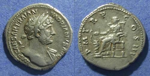 Ancient Coins - Roman Empire, Hadrian 117-138, Denarius