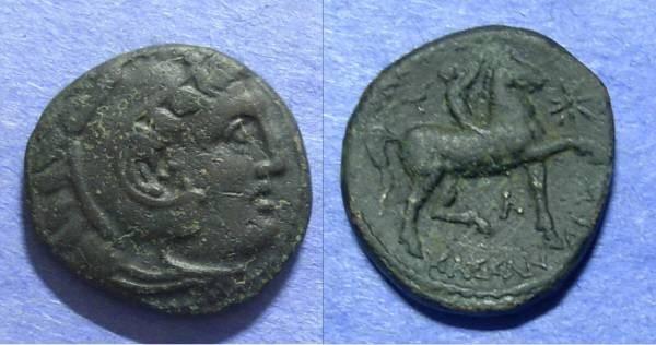 Ancient Coins - Macedonian Kingdom, Kassander 319-297 BC, AE18