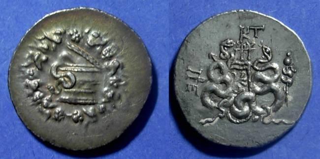 Ancient Coins - Pergamon, Mysia 85-76 BC, Cistophoric Tetradrachm