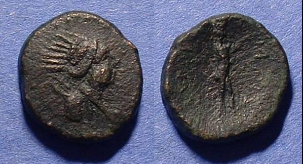 Ancient Coins - Syracuse Sicily AE19 Roman Rule Circa 212-150 BC