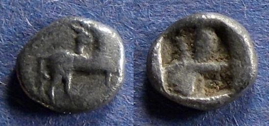 Ancient Coins - Thraco-Macedonian, Uncertain city Circa 400 BC, Obol