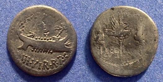 Ancient Coins - Marc Antony - Legion IV Denarius