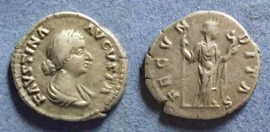 Ancient Coins - Roman Empire, Faustina Jr d.175, Denarius