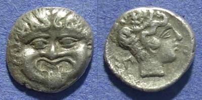 Ancient Coins - Macedonia, Neapolis 420-350 BC, Hemidrachm