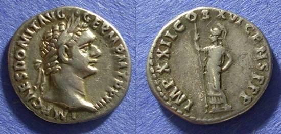 Ancient Coins - Roman Empire Domitian 81-96 AD Denarius