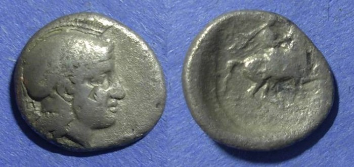 Ancient Coins - Pharsalos, Thessaly 424-5 BC, Drachm