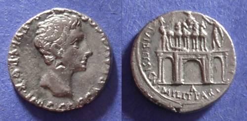 Ancient Coins - Roman Empire, Augustus 27 BC-14 AD, Denarius