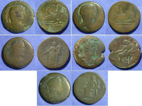 Ancient Coins - Roman Egypt - 5 Drachms of Hadrian and Antoninus Pius