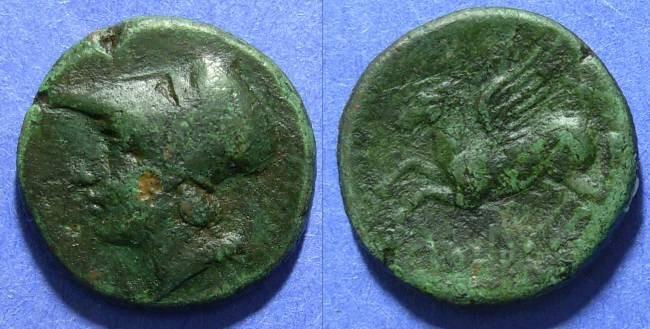 Ancient Coins - Bruttium, Locroi Epizephyrii 290-270 BC, AE23