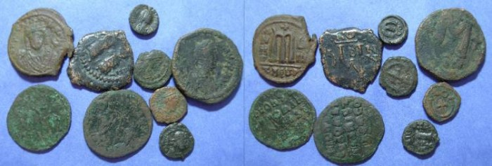 Ancient Coins - Group of 9 Byzantine coins
