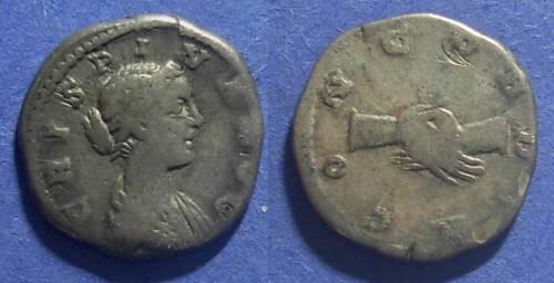 Ancient Coins - Roman Empire, Crispina d. 182 AD, Denarius