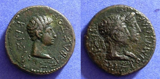 Ancient Coins - Kings of Thrace - Rhoemetalkes & Augustus AE23