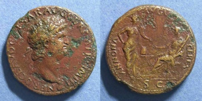 Ancient Coins - Roman Emipre, Nero 54-68 AD, Sestertius