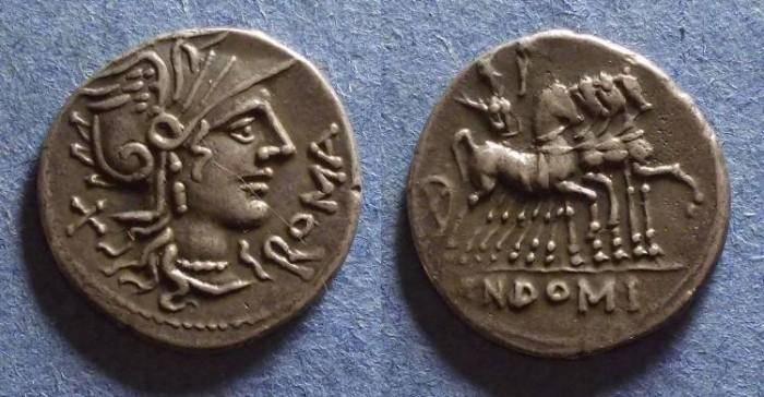 Ancient Coins - Roman Republic, Cn Domitius Ahenobarbus 116/115 BC, Denarius