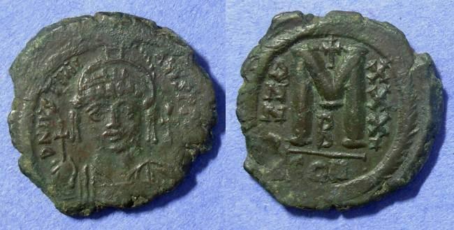 Ancient Coins - Byzantine Empire – Justinian 527-565AD – Follis 31mm