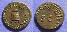 Ancient Coins - Roman Empire, Claudius 41-54, Quadrans